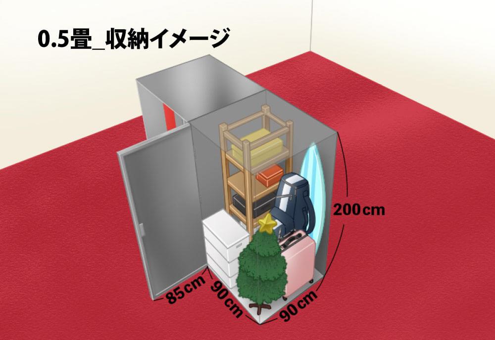 0.5畳トランクルーム